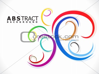abstract colorful creative decorative design