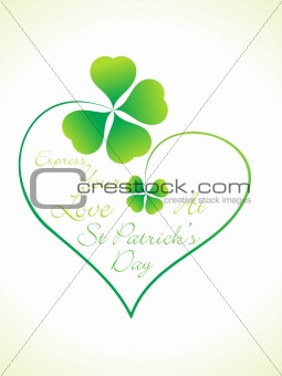 abstract st patrick day greeting
