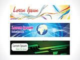 abstract multiple web banners set