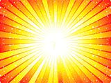 abstract yellow sunbeam background