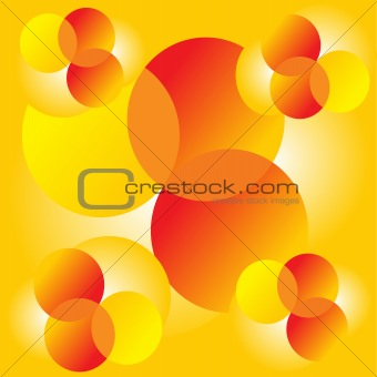 abstract yellow circles  background