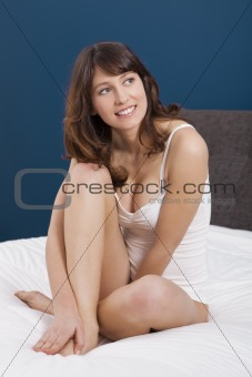 Sitting on the bed
