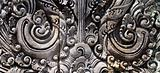 Balinese traditional stone carving elements