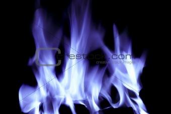 blue open fire flames