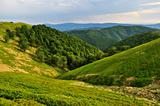 Borzhava ridge slopes in Carpathians