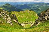 Rocks in Marmaroski alps. Carpathians. Ukraine