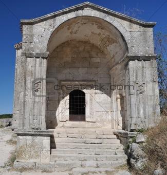 Ancient Dzhanike-Khanim chapel. XV century