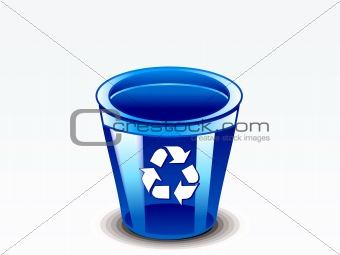 abstract glossy recycebin
