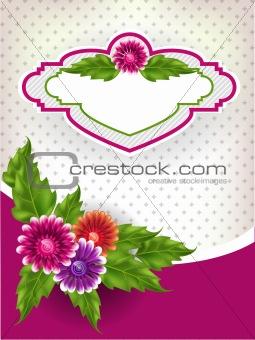 Floral mesh background