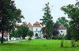 Svirzh Castle park view(Ukraine).