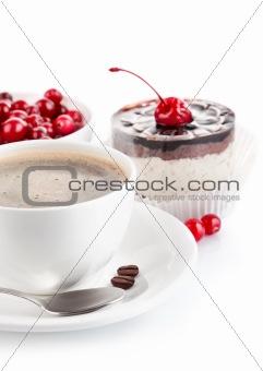 coffee with chocolate cake