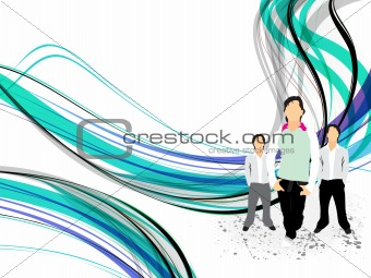 abstract l background with silhouette