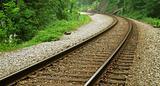 Curved Railroad Tracks