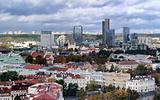 Vilnius old town and business district panorama