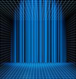 Abstract blue grid space