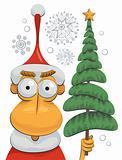 Santa Claus and Christmas tree