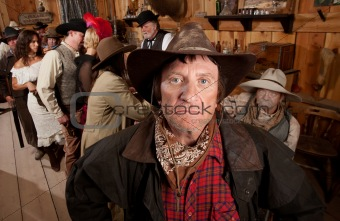 Rugged Cowboy in a Saloon