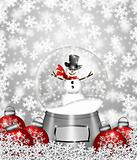 Snow Globe Snowman and Christmas Tree Ornaments