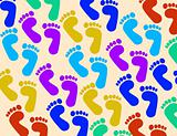 foot print background