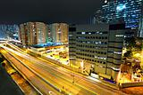 traffic and urban at night