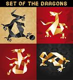 Set Dragon Origami
