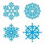 Symbol snowflakes. Vector