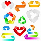 Color arrows icons