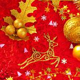 Christmas card background golden and red