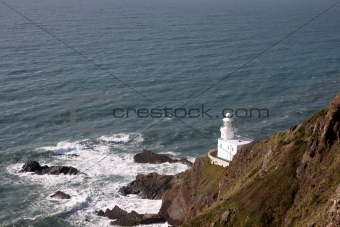 A lighthouse on the coast of Devon