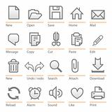 Universal software icon set. Big size