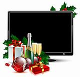 LCD panel with christmas