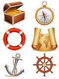 Marine icons.