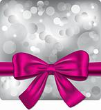 Bokeh background with pink ribbon