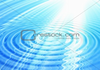 abstract water background with rays of light