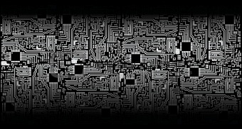 Circuit board - silver black