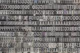 vintage metal letters and numbers