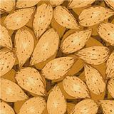 shelled almonds seamless background