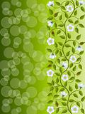 Abstract floral background. Decorative pattern. Vector illustration.