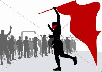 Revolution flag