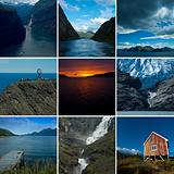 Collage Norway Landscapes