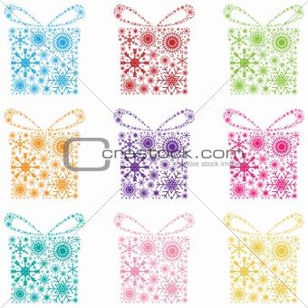 Set snowflake gift