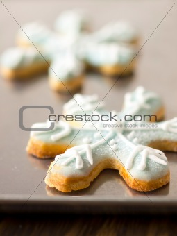 christmas snow flake cookies