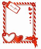 Valentine vertical card