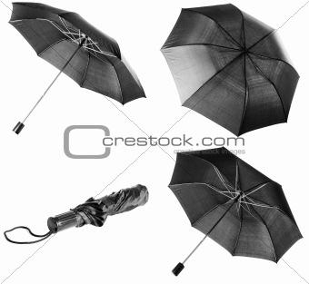 Black umbrella | Isolated