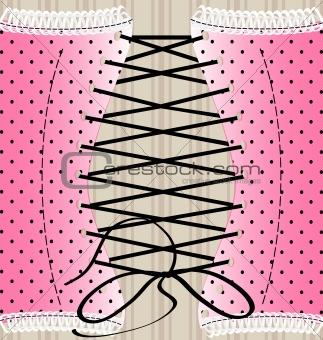 background retro corset