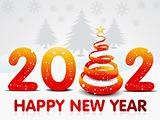 abstract new year background with christmas tree