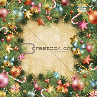 Christmas vintage background