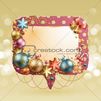 Christmas vintage bubble