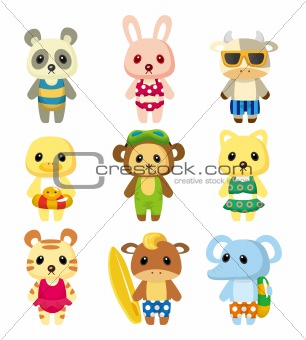 cartoon summer animal
