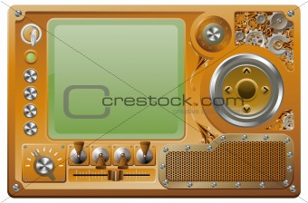 Steampunk grunge media player